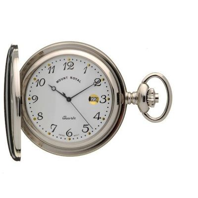Mount Royal Full Hunter Quartz Pocket Watch MR-B24