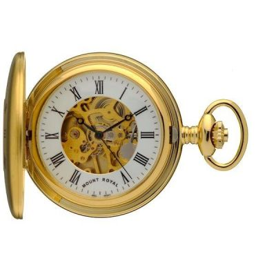 Mount Royal Half Hunter Pocket Mechanical Watch MR-B25