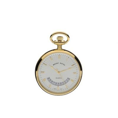 Mount Royal Open Face Quartz Pocket Watch MR-B30P
