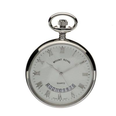Mount Royal Open Face Quartz Pocket Watch MR-B30C