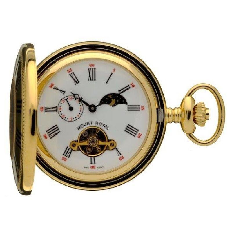 Mount Royal Half Hunter Sun Moon Pocket Mechanical Watch