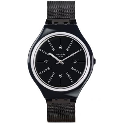 Swatch Skin Medium Skinotte Herrenuhr in Schwarz SVOB100M
