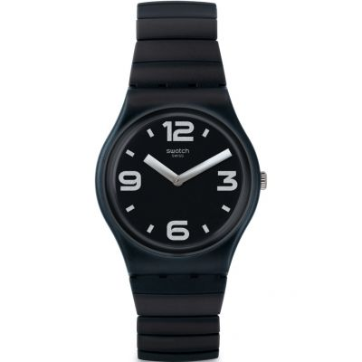 Swatch Original Gent Blackhot Damenuhr in Schwarz GB299A