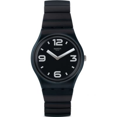 Swatch Original Gent Blackhot Unisexuhr in Schwarz GB299B