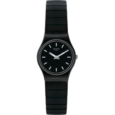 Swatch Originals Lady Flexiblack Unisexuhr in Schwarz LB183B