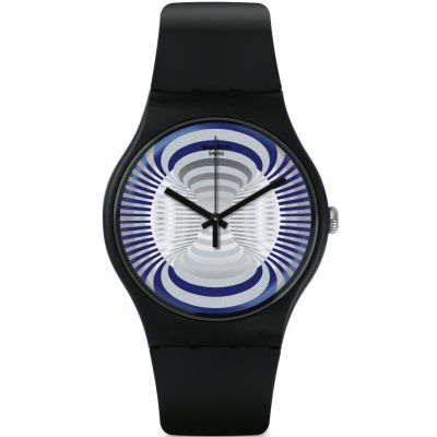 Swatch Originals New Gent Microsillon Unisexuhr in Schwarz SUON124