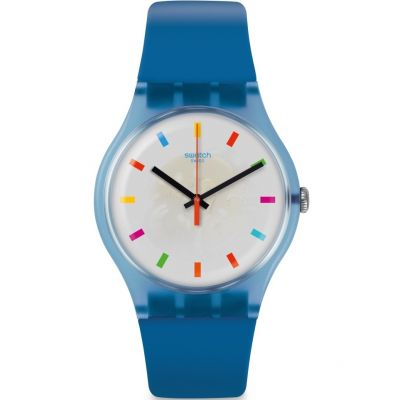 Swatch Originals New Gent Color Square Unisexuhr in Blau SUON125