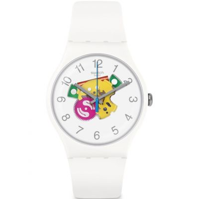 Swatch Originals New Gent Candinette Unisexuhr in Weiß SUOW148