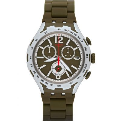 Montre Chronographe Homme Swatch Green Attack YYS4022AG