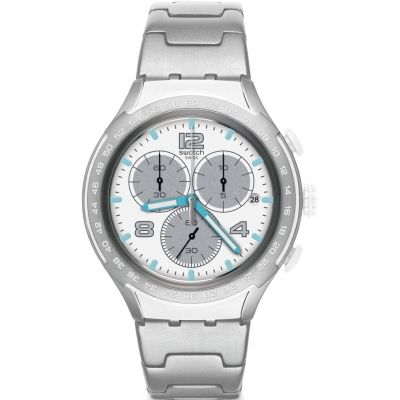 Swatch Irony X-Lite Chrono Pure Attack Herrenchronograph in Silber YYS4024AG