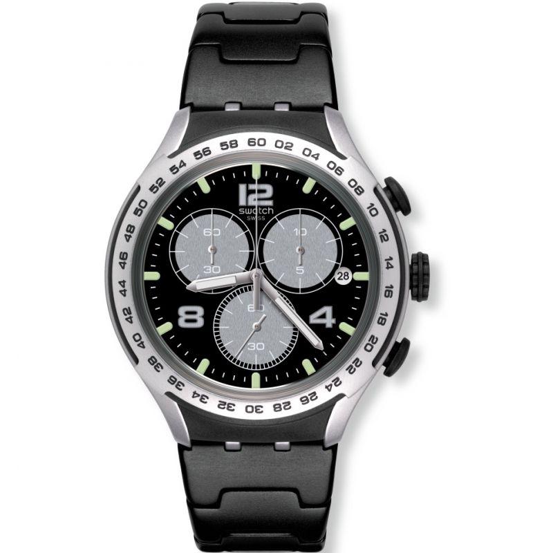 Unisex Swatch Night Attack Chronograph Watch