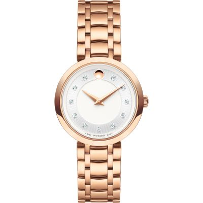 Movado 1881 Quartz Dameshorloge Rose 0607100
