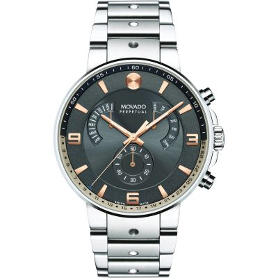 Mens Movado SE Pilot Retrograde Perpetual Watch 0607130