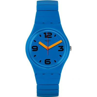 Swatch Original Gent Pepeblu Damenuhr in Blau GN251B