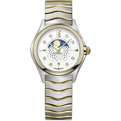 Ladies Ebel Wave Mini Moonphase Diamond Watch 1216373