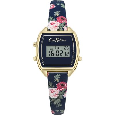 Ladies Cath Kidston Antique Rose Digital Chronograph Watch CKL034U