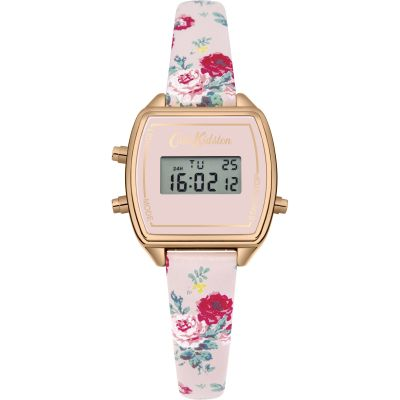 Ladies Cath Kidston Antique Rose Digital Chronograph Watch CKL034P