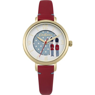 Cath Kidston Guards Damenuhr in Rot CKL035RG