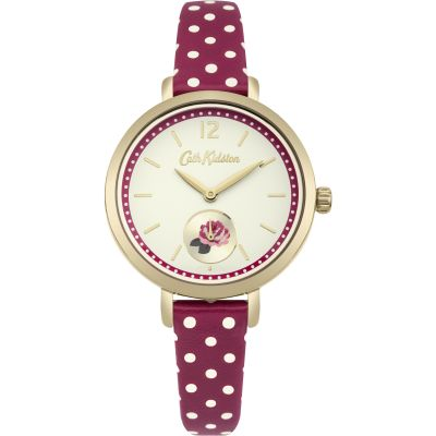 Ladies Cath Kidston Wells Rose Berry Spot Watch CKL036RG