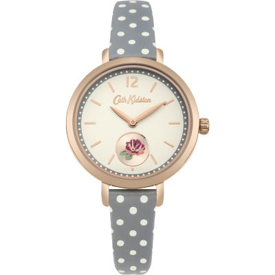 Ladies Cath Kidston Wells Rose Grey Spot Watch CKL036NRG