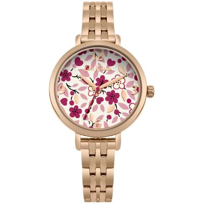 Ladies Cath Kidston Littlemore Flowers Watch CKL037RGM