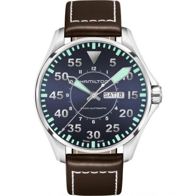 Hamilton Khaki Aviation Pilot Herrenuhr in Braun H64715545