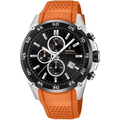 Festina Originals - The Tour Of Britain 2017 Herenchronograaf Oranje F20330/4