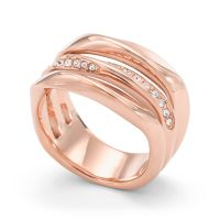 Ladies Fossil Rose Gold Plated Size K Ring Size K JF01321791503