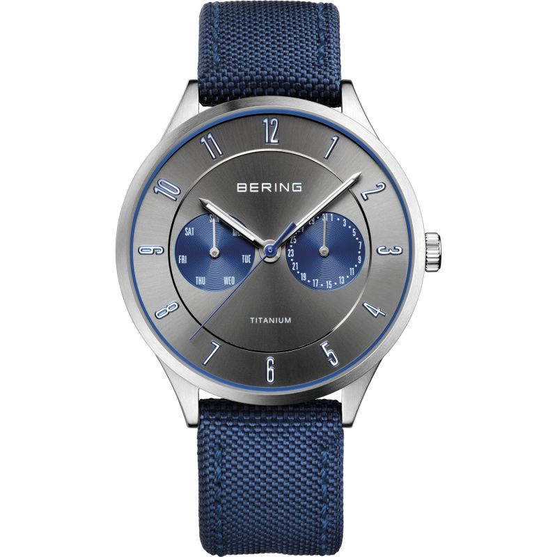 Mens Bering Ultra Light Titanium Titanium Watch