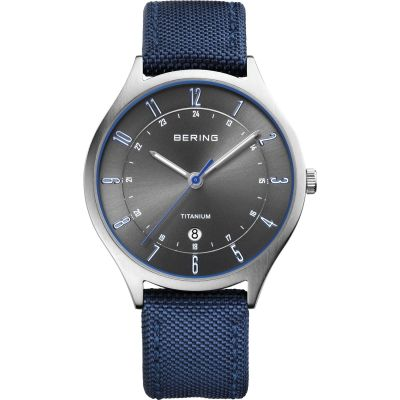 Mens Bering Ultra Light Titanium Titanium Watch 11739-873