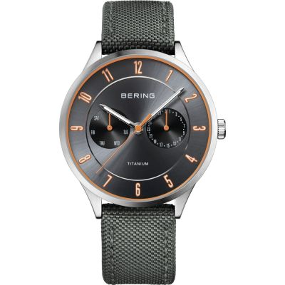 Mens Bering Ultra Light Titanium Titanium Watch 11539-879