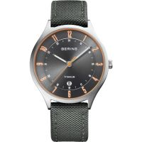 Mens Bering Ultra Light Titanium Titanium Watch 11739-879