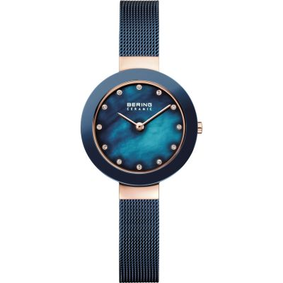Bering High-Tech Ceramic Damenuhr in Blau 11429-367