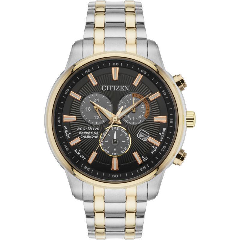 Mens Citizen Perpetual Calendar Alarm Chronograph Watch