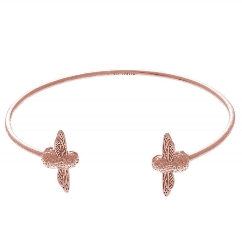 3D Bee Double Rose Gold Bangle OBJ16AMB02