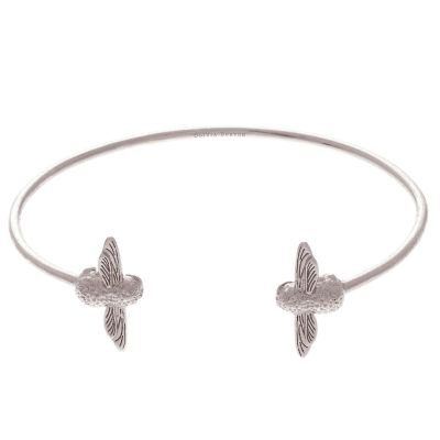 3D Bee Double Silver Bangle OBJ16AMB03