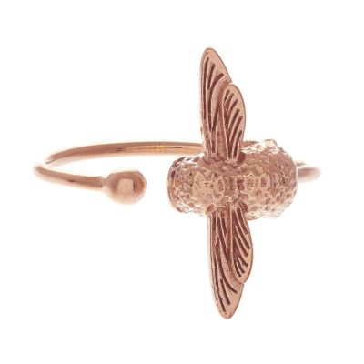 Ladies Olivia Burton Rose Gold Plated Bee Ring OBJ16AMR02