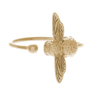 Ladies Olivia Burton Gold Plated Bee Ring OBJ16AMR01
