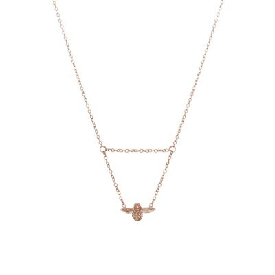 Ladies Olivia Burton Rose Gold Plated Moulded Bee Necklace OBJ16AMN06