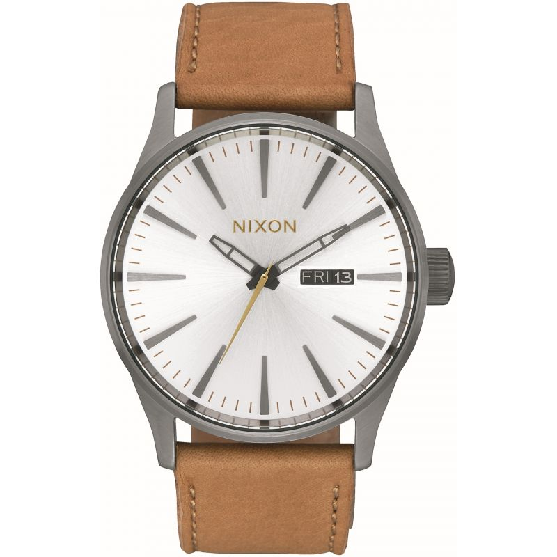 Unisex Nixon The Sentry Leather Watch