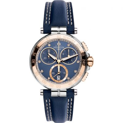 Ladies Michel Herbelin Newport Chronograph Watch 33656/TR55BL