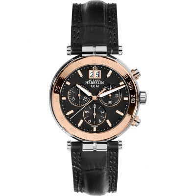 Mens Michel Herbelin Newport Chronograph Watch 36654/TR14