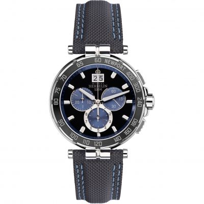 Mens Michel Herbelin Newport Chronograph Watch 36656/AN65