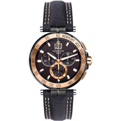 Mens Michel Herbelin Newport Chronograph Watch 36656/TR14