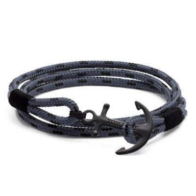 Tom Hope Heren Eclipse Bracelet M Zwart Ion verguld staal TM0152