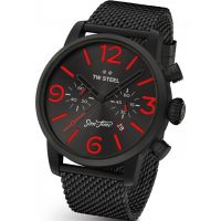 Mens TW Steel Son Of Time Tempus Fury Limited Edition Chronograph 48mm Watch MST14