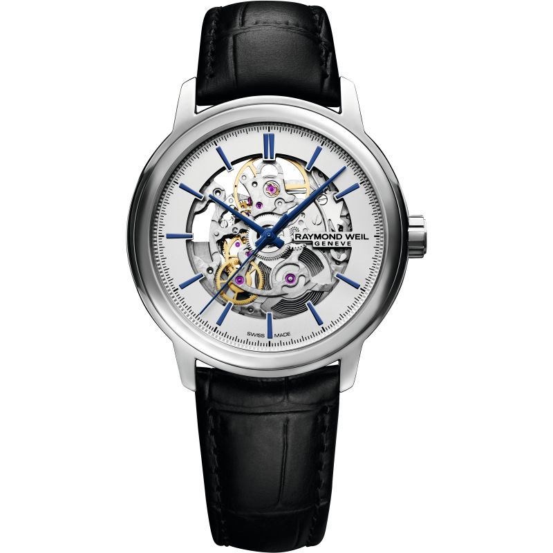 Mens Raymond Weil Maestro Skeleton Automatic Watch