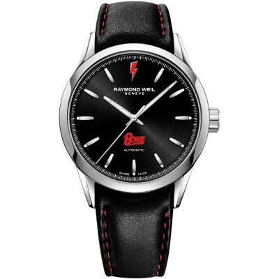 Raymond Weil Freelancer Bowie Limited Edition Herrenuhr in Schwarz 2731-ST-BOW01