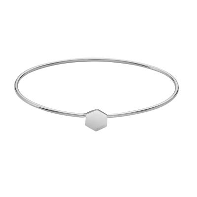 CLUSE Essentielle Silver Hexagon Bangle Bracelet CLJ12001
