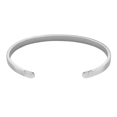 CLUSE Dames Idylle Silver ​Marble ​Open ​Cuff​ ̴ Verguld Zilver CLJ12006